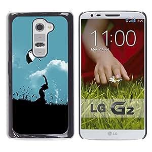 Be Good Phone Accessory // Dura Cáscara cubierta Protectora Caso Carcasa Funda de Protección para LG G2 D800 D802 D802TA D803 VS980 LS980 // Nature Umbrella Field