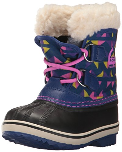Yoot Pac Snow Boot (Sorel Girls' Yoot Pac Nylon, Aviation, Foxglove, 9 M US Big Kid)