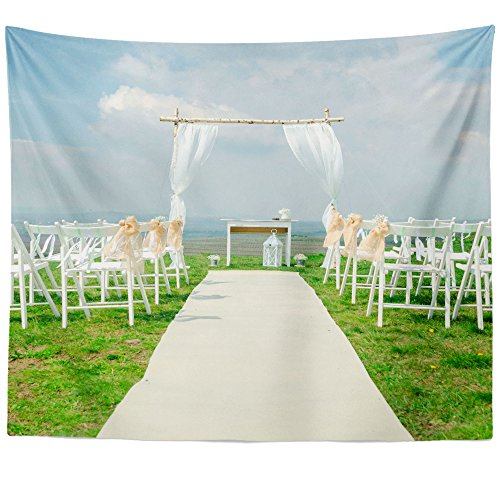 Jewish Wedding Canopy - Westlake Art Wall Hanging Tapestry - Aisle Ceremony - Photography Home Decor Living Room - 51x60in