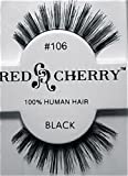 Red Cherry False Eye Lashes #106 (6 Pack) + Free iBeautiful Sample