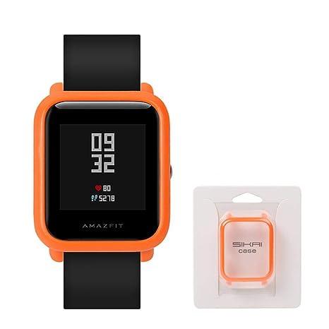 Flower205 Funda Protectora para Xiaomi Huami Amazfit Bip Younth Reloj Funda Protectora Caso Completo para AMAZFIT