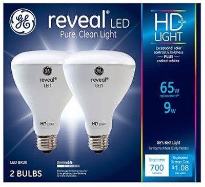 (G E LIGHTING 30691 Reveal HD+ LED Light Bulbs, 700 Lumens, 9-Watts, 2-Pk. - Quantity 1)