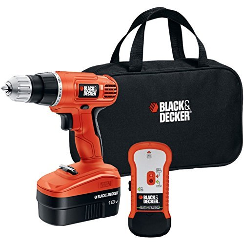 Black-Decker-GCO18SFB-Cordless-Drill-Stud-Sensor-Kit-18V-WKeyless-Chuck-Tools-Hand-Tools