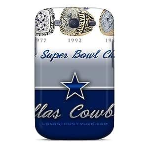 Galaxy S3 Ewr310XgJC Dallas Cowboys Tpu Silicone Gel Case Cover. Fits Galaxy S3