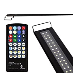 Custom color from your couch Now you can shift the color of your aquatic environment without shifting your body with the industry's first freshwater-optimized, RGB+White, wireless remote controlled LED fixture. Super bright 6500K White LEDs a...
