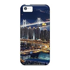 New Premium UJK8390ioVC Cases Covers For Iphone 5c/ City Bridges Protective Cases Covers