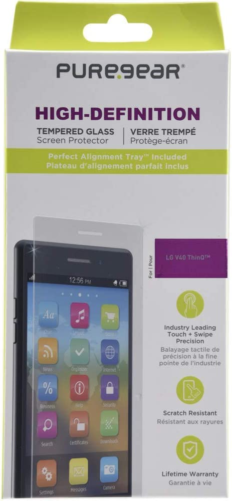 PureGear - Protector de Pantalla de Cristal Templado para LG V40 ...