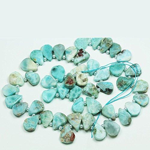 One full strand Raw Natural Larimar, Teardrop Gemstone Beads Strand, 1411mm,16inch -GEM1297