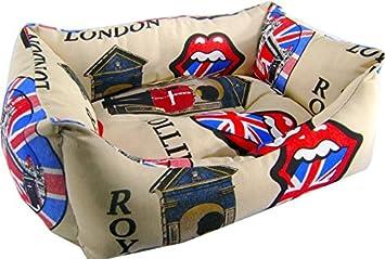 iOn 5303 - Cama Cuna para Perro y Gato, 50x 40x 16 cm, Diseño London: Amazon.es: Productos para mascotas