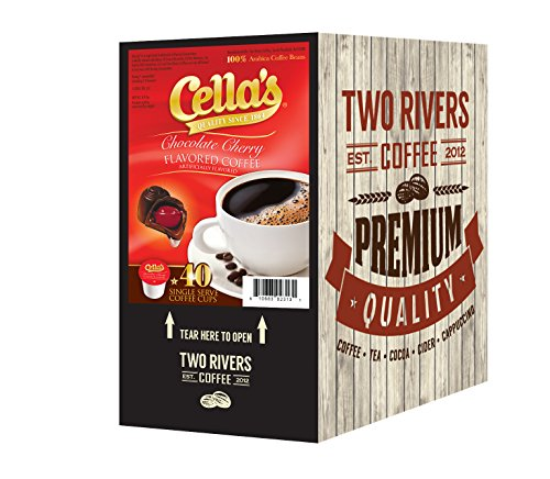 Cella's Chocolate Covered Cherry Single Keurig K-Cup Coffee, 40 Count