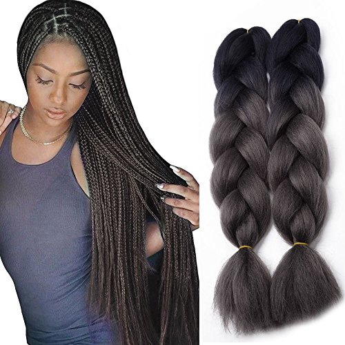 "24"" Ombre Braids Hair Jumbo Braiding Synthetic Hair"