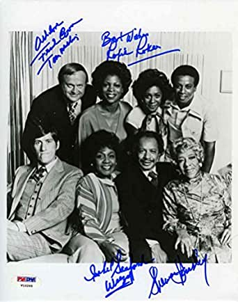 The Jeffersons Cast by 4 Signed 8x10 Photo Certified Authentic PSA/DNA COA