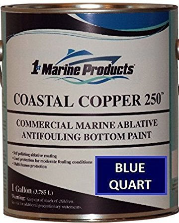 Coastal Copper 250 Ablative Antifouling Bottom Paint BLUE QUART (Paint Hard Bottom)