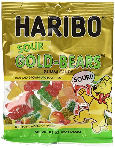 Haribo Sour Gold-Bears Gummi Candy Bag (4.5 oz/127g) (12 Bags)