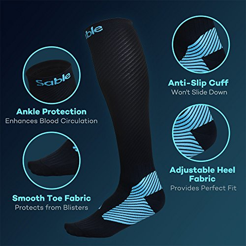 Amazon.com: Compression Socks for Men Women, Sable 2 Pairs Athletic Fit for Running, Nurses, Flight Travel, Maternity Pregnancy, Boost Stamina, ...