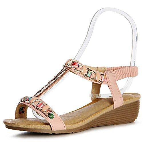 Sandalettes Topschuhe24 Topschuhe24 Femmes Rose Sandalettes Topschuhe24 Sandales Rose Femmes Sandales xqn8HOX