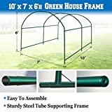 BenefitUSA Green House Replacement Spare Parts for 10'X7'X6'H Walk In Outdoor Plant Gardening Greenhouse (frame)