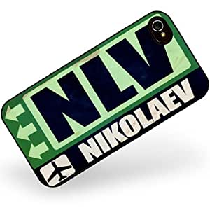 Rubber Case for iphone 4 4s Airportcode NLV Nikolaev - Neonblond