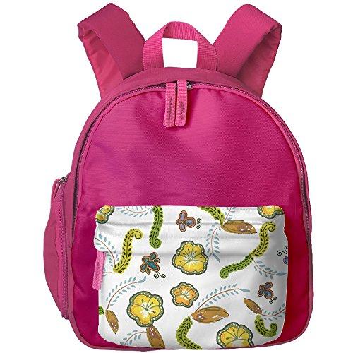 2017 Children's Flower Tile Shading Travel Sports School Shoulder Bag (Tea Bag Tiles)