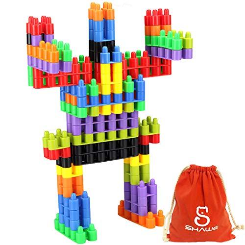 (SHAWE 100 PC Interlocking Building Set -Fine Motor Skills- Children Imaginations Run Wild -Build Unlimited Shapes -Safe Kids Material)