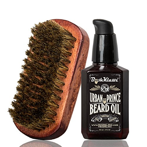 Urban Prince Beard Oil Conditioner & BoarKlawz Beard Boar Brush Gift Set Beard Care Kit Men's Beard Grooming Bundle Set – Best Scented Beard Oil Grooming Kit for Bearded Men