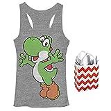 Super Mario Bros Yoshi Junior Womens Tank & Gift Bag 2 Piece Set