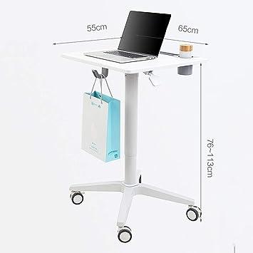 Escritorios HAIZHEN Portátil Ajustable Portátil Sentado-Stand móvil Carrito Portátil Soporte de Mesa Soporte de