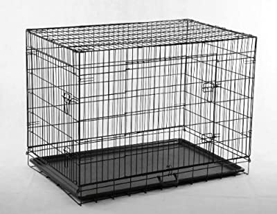 """48"""" Large Folding Wire Pet Cage For Dog Cat"""
