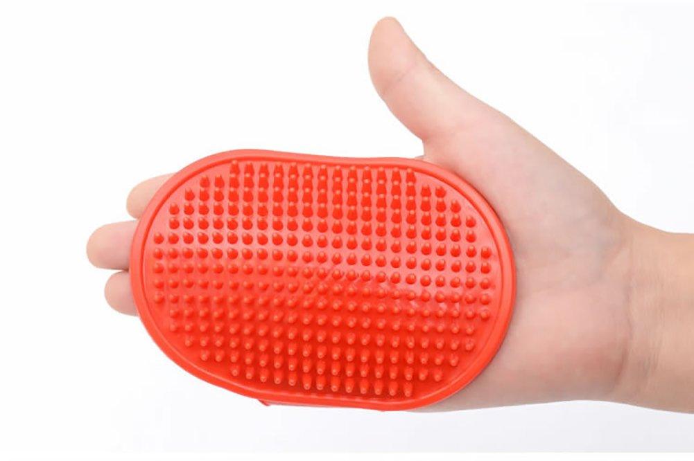 Fablcrew Guanti proprie Spazzola regolabile per massaggi di spazzola di spazzola di Bath di animale familier