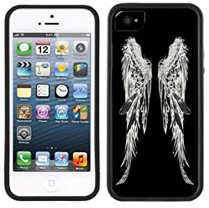 Angel Wings Handmade iPhone 5 Black Bumper Plastic Case