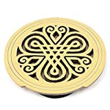 DealMux Acoustic Electric Guitar Feedback Buster Hollow Knotting Pattern Wood Sound Hole Cover Block Protector