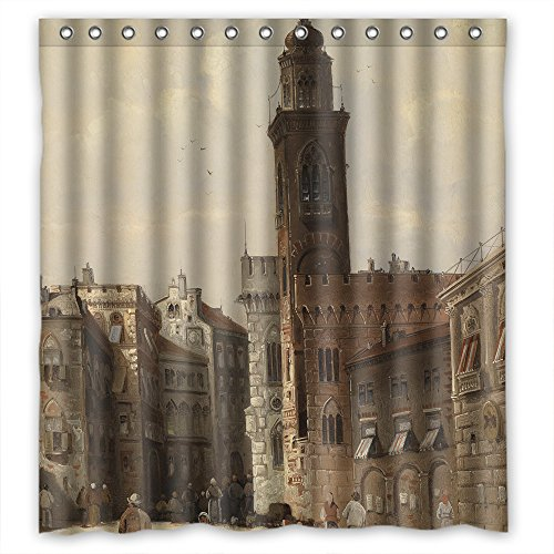 Eyeselect Polyester Shower Curtains Of Beautiful Scenery Landscape