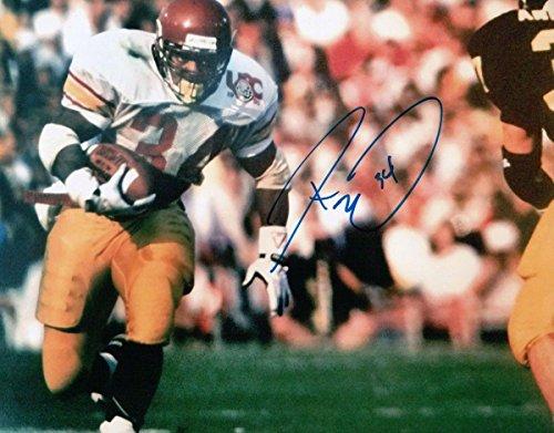 Autographed Ricky Ervins Picture - 8X10 USC Trojans Running Rose Bowl w COA - Autographed NFL Photos (Bowl Autographed Usc Rose)