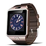Padgene DZ09 Bluetooth Smart Watch with Camera for Samsung S5 / Note 2 / 3 / 4, Nexus 6, Htc, Sony and Other Android Smartphones, Rose Gold