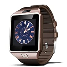 Padgene DZ09 Bluetooth Smart Watch with Camera for Samsung S5 / Note 2 / 3 / 4, Nexus 6, Htc, Sony and Other Android Smartphones,Gold
