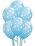 1st Birthday Star Boy Latex Balloons (6)