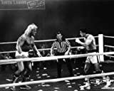 "Hulk Hogan ""Thunderlips vs. Sylvester Stallone In Rocky 3"" Black and White 16"" x 20"" Photograph (Unframed)"