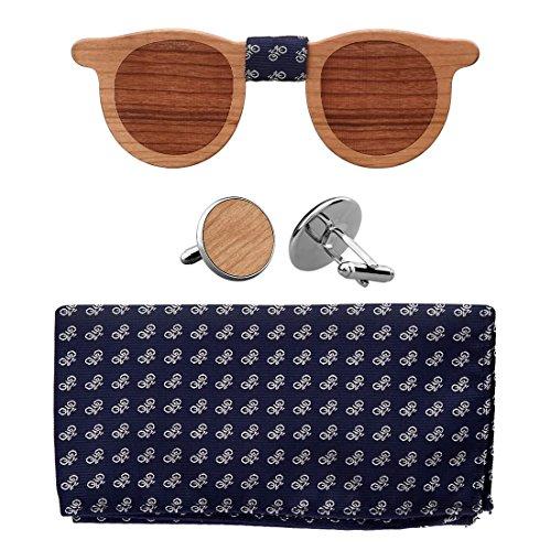 Walnut Matching Pocket Square Cufflinks product image