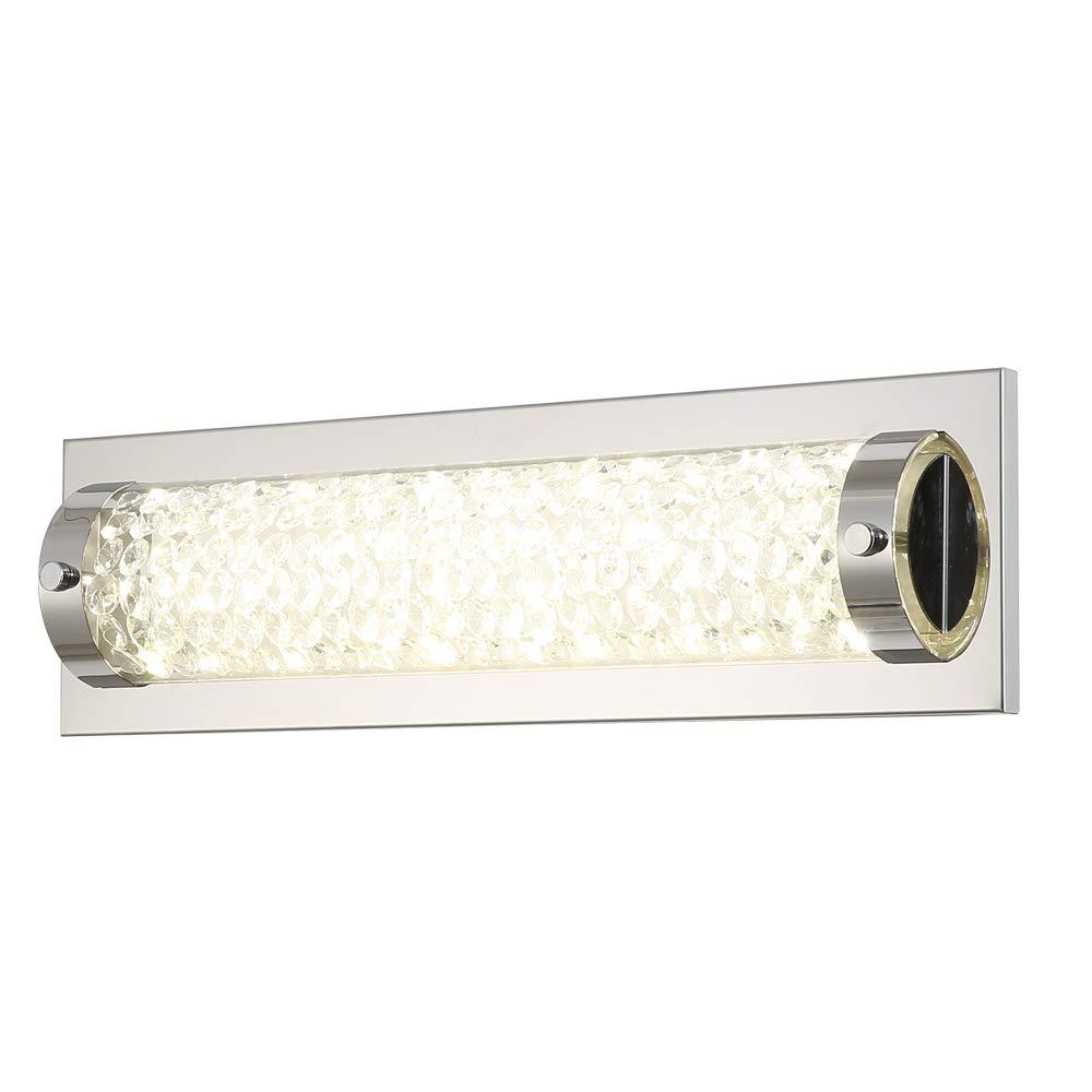 Auffel LED Wall Lights,15-Inch Glass+Metal Vanity Lights,4000K Neutral White Light 1320ML Mirror Light,Horizontal or Vertical Installation for Bathroom, Bedroom, Hallway, Balcony,Study Room
