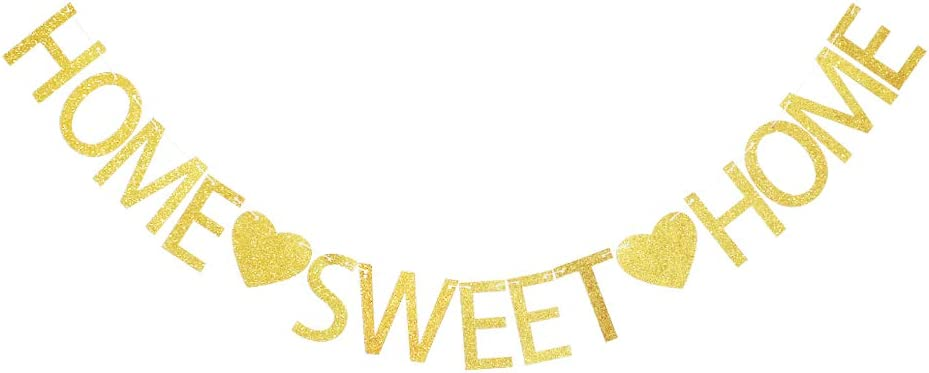 Home Sweet Home Banner, Welcome Home Party Sign Decors, Family Party Supplies