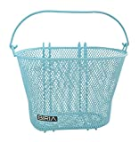 Basket with Hooks Blue, Front, Removable, Wire mesh Small Bicycle Basket, Blue
