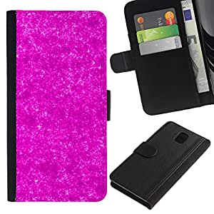 KingStore / Leather Etui en cuir / Samsung Galaxy Note 3 III / Patrón Universo Modelo de estrellas;