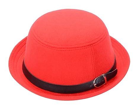 1b337fd307d5f Amazon.com  East Majik Girls Women Roll-up Brim Fedora Bowler Hat ...