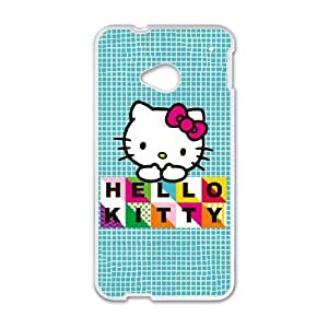 Hello Kitty Blue Pattern HTC One M7 Cell Phone Case White DIY Present pjz003_6623666