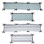 Bacati-Noah-Tribal-10-Piece-Nursery-in-a-Bag-Cotton-Percale-Crib-Bedding-Set-with-Bumper-Pad-MintNavy