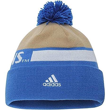 66fc70583e6 Amazon.com  UCLA Bruins adidas Sideline Cuffed Pom Knit Hat - Blue Gold ( Blue   Gold)  Clothing