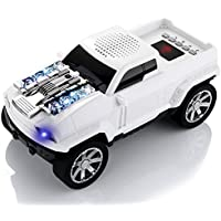 Sumci Bluetooth Speakers Portable Wireless Speakers Work for Iphone Ipad Samsung Player Car Bluetooth Speakers(White)