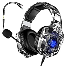 VersionTECH K-8 Gaming Headset for PS4 & New Xbox One & PC, Gaming Headphones with Noise Reduction Mic, Led Light, Volume Control for Nintendo Switch, Mac, Laptop Games