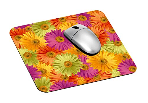 """3M Precise Mouse Pad with Non-Skid Foam Back, Enhances the Precision of Optical Mice at Fast Speeds, 9""""x8"""", Fun Daisy Design (MP114DS)"""