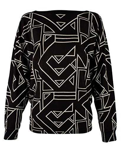 Lauren Ralph Lauren Women's Plus Size Geometric Print Sweater-BM-1X by Lauren by Ralph Lauren